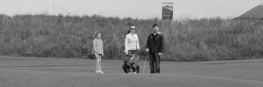 We enjoy golf with the family.