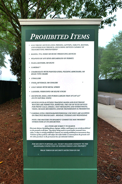 「PROHIBITED ITEMS」