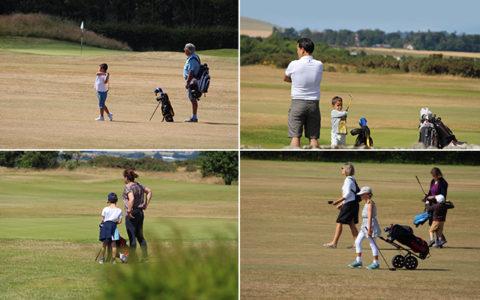 セントアンドルーズでは親子ゴルフが日常!ゴルフを子供たちに伝承しています